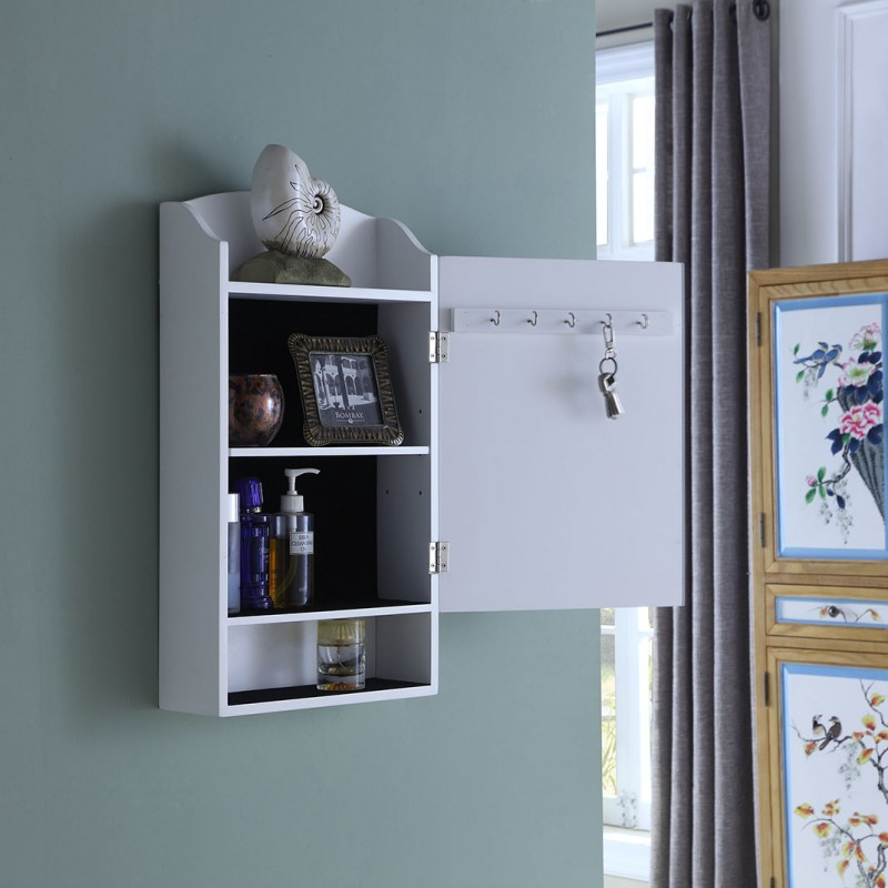 Door Entry Organizer With Mail Sorter And Key Holder Compartment