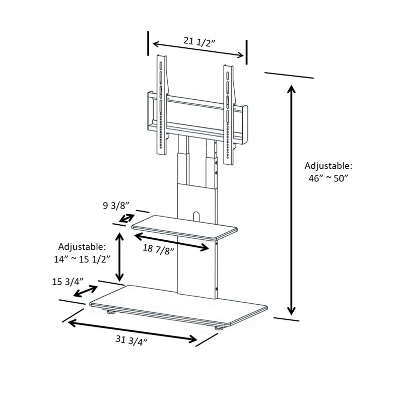 St17051 Tv Stand With Mount In White Proman Products