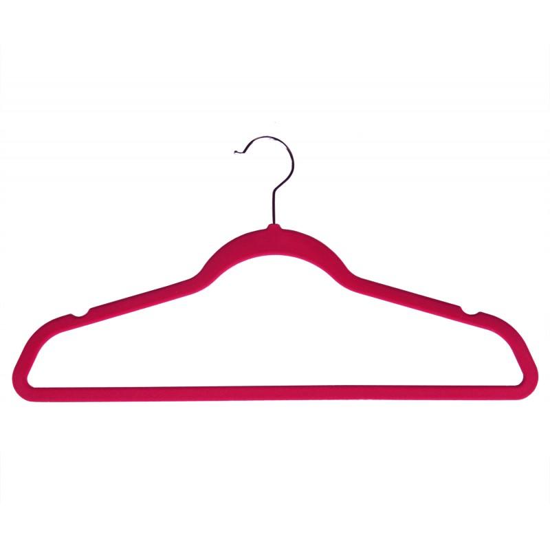 VVT9046 Velvet Plastic HUGGABLE Suit Hanger (Rose Color)