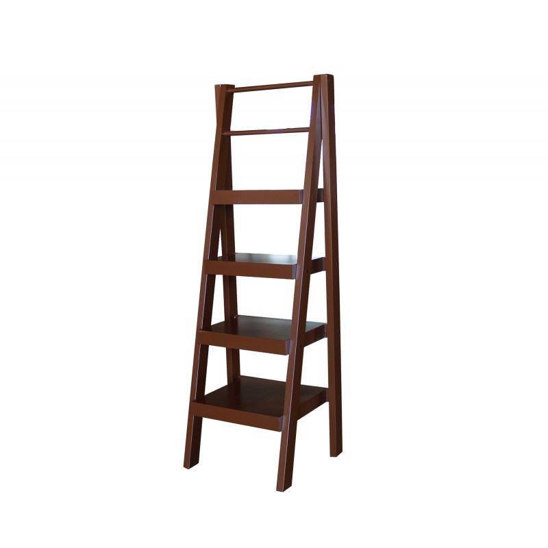 XKS2801 Santa Fe 4-tier shelf, stand alone, Brown Carmel finish
